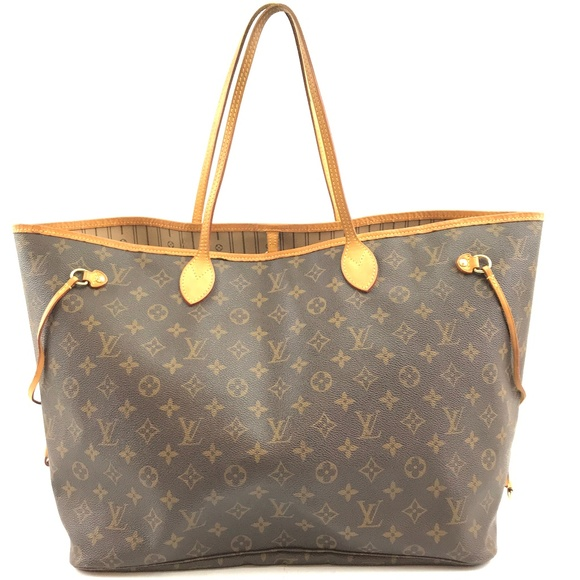 Louis Vuitton Handbags - Neverfull Gm Tote Coated Canvas Shoulder Bag